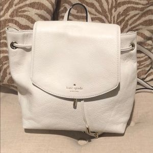 Kate Spade white backpack purse